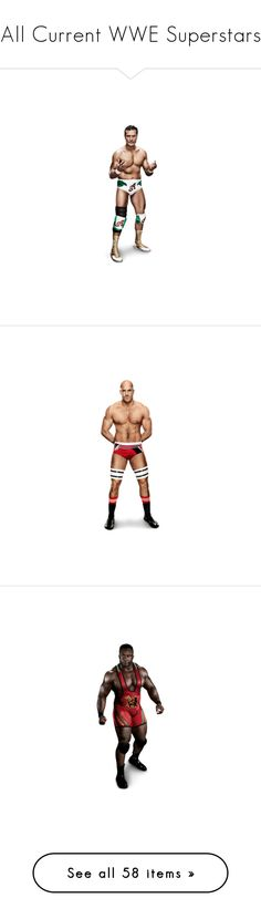 """""""All Current WWE Superstars"""" by sex-on-legs-482 ❤ liked on Polyvore featuring wwe, antonio cesaro, big e, big show, people, wwe figures, christian, wrestling, cm punk and damien sandow"""