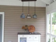 Vintage funnel chandelier by Keenerideas on Etsy