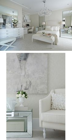 All white bedroom Home Decor Inspiration, Beautiful Bedrooms, Home N Decor, Home, Home Bedroom, House Interior, Room Decor, Bedroom Decor, Bedroom Layouts