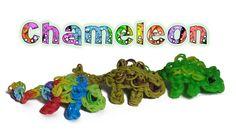 Rainbow Loom 3D Chameleon charm/Figure - How to - Animal Series (+playlist) Rainbow Loom Tutorials, Rainbow Loom Patterns, Rainbow Loom Creations, Rainbow Loom Bands, Rainbow Loom Charms, Rainbow Loom Bracelets, Loom Band Animals, Rainbow Loom Animals, Loom Love