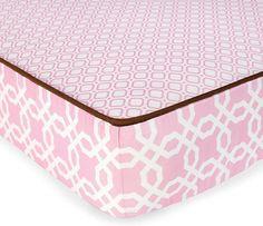 Skip Hop Complete Sheet, Pink Lattice (Discontinued by Manufacturer) Baby Girl Bedding, Crib Bedding Sets, Crib Sheets, Girl Nursery, Pink Crib, Cottage Furniture, Nursery Inspiration, Nursery Ideas