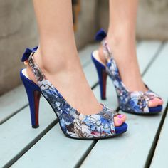 Aliexpress.com : Buy Spring fashion 2013 women's high heels platform lace print bow open toe sandals drop shipping from Reliable sandals suppliers on ENMAYER CO., LIMITED $28.99