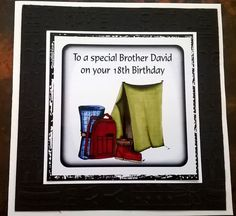 Handmade Personalised Birthday Card Camping Dad Brother Cousin Husbad 30 40 65