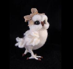 MADE TO ORDER  Snowy Owl Needle felted Bird Animal von McBrideHouse
