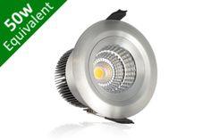 Buy Static Downlight 9W (50W) 72mm Silver LED