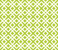 Weave Ikat in Green or Chartreuse fabric by fridabarlow on Spoonflower - custom fabric