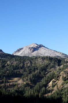 This is Lassen Peak. It's a volcano! And 100 years ago it blew ashes and rock 7 miles into the air!! Read about our trip there when you click through.