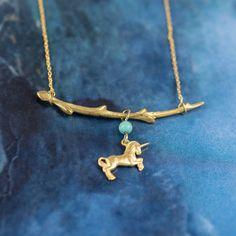 Gold Unicorn Pendant
