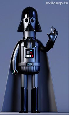 Here's a cool set of digital Star Wars vinyl caricatures that were created by Evil Corp.