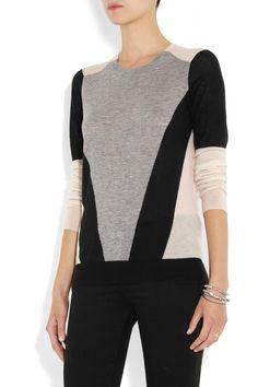 Joseph|Color-block cashmere sweater|NET-A-PORTER.COM