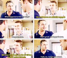 Severide: What happened at the academy? Casey: Me and Dawson are officially engaged. Severide: Congrats, man. That's great. I'm happy for you. 3x02