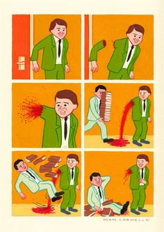 If you're hoping for some evening comics that are as funny as they are disturbing and bizarre, look no further than the work of Joan Cornellà (spotted via BOOOOOOOM), whose drawings invoke a lighthearted sensibility and an extremely dark sense of humor. Dark Humor Comics, Bd Comics, Funny Comics, Dark Comics, Humor Grafico, Weird And Wonderful, Comic Artist, Illustrations Posters, Funny Pictures