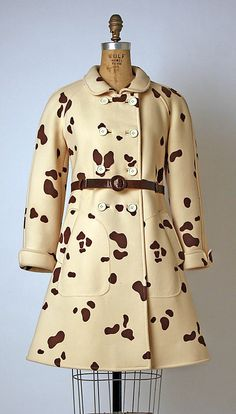 Coat  André Courrèges  (French, born 1923)  Date: 1966–68 Culture: French Medium: wool, leather