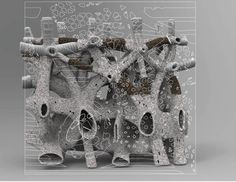 "Natalie ALIMA, ""Bio Scaffold: The Architecture of Decay."" Model. barcelona SPAIN"