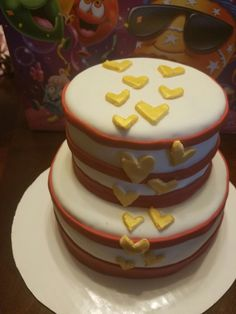 Heart cake Fondant Cakes, Heart, Desserts, Food, Tailgate Desserts, Deserts, Essen, Postres, Meals