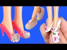 10 Farklı Barbie Ayakkabısı Nasıl Yapılır? Kendin Yap DIY Barbie Shoes - YouTube