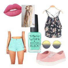 """""""Summer"""" by india-k-love on Polyvore featuring Vans, Lime Crime, Kester Black and Matthew Williamson"""