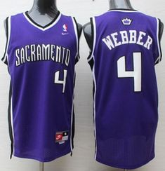 Nike Kings #4 Chris Webber Purple Throwback Stitched NBA Jersey