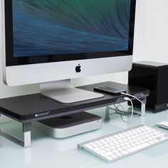 This #Usb #Monitor #Stand is the perfect companion for your monitor, laptop, or all-in-one computer. The Usb Monitor Stand simplifies and organizes your desk, while maintaining a clean, functional style.
