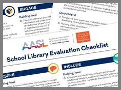 Evaluation Checklist - National School Library Standards standards.aasl.or... #tlchat #futurereadylibs #istelib #aasl