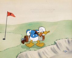 Production Cel Featuring Donald Duck