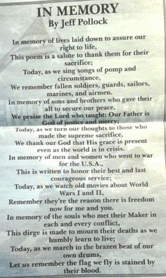 Memorial Day Poem Memorial Day Prayer, 911 Memorial, Veterans Memorial, Veterans Poems, Military Honors, Support Our Troops, Songs To Sing, We Remember, July 4th