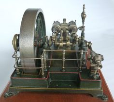 Antique German Model Twin Cylinder Live Steam Engine TOY 1900 | eBay