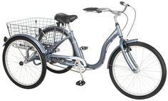 Amazon.com : Schwinn Meridian Adult Tricycle, 24-Inch, Slate Blue : Sports & Outdoors
