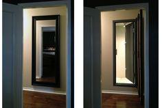 Hidden+Safe+Room+Door | Hidden safe room with door closed & door open