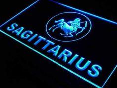 Zodiac Sagittarius Neon Sign Lights Up Neon Light Signs, Led Neon Signs, Astrology Zodiac, Zodiac Signs, Sagittarius Sign, Sign Lighting, Making Waves, Clear Acrylic, Lights
