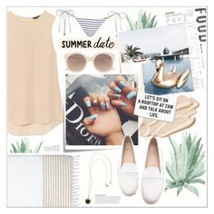 """""""♠ By the Pool"""" by paty ❤ liked on Polyvore featuring Theory, Post-It, rag & bone, Stila, Witchery, Lilly Pulitzer, H&M, KAROLINA, Melissa Odabash and beach"""