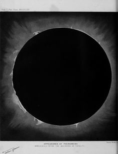 """Warren De La Rue - Appearance of Phenomena immediately after the Beginning of Totality, """"On the Total Solar Eclipse"""", Royal Society, Genetic Disorder, Solar Eclipse, Artsy, Paintings, Paint, Painting Art, Painting, Portrait"""