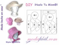 Hat Patterns To Sew, Diy Hat, Sewing, Hats, Grande, Couture, Nursery Fabric, Barbie Dress, Tejidos