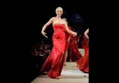 Jenna Elfman in Alberta Ferretti - The Heart Truth's Red Dress Collection 2012 Fashion Show