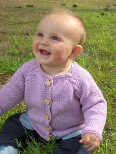 Beth's cables is a seamless top-down raglan cardi for baby girls, with beautifully combined cables along the raglan sleeves and down the sides.