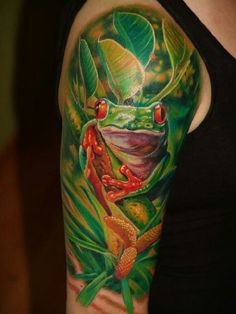 Best frog tattoo. Gotta find a spot for this