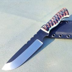 """Custom """"Ranger"""" Survival Knife 80crv2 High Carbon Steel"""