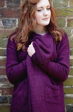 Free pattern: Debbie Bliss waterfall jacket from 'Knits for you and your Home' book