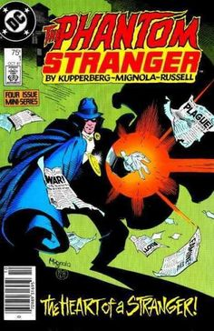 The enigmatic mystical hero called The Phantom Stranger battles the forces of evil in this new title. In a tale illustrated by Mike Mignola, creator of Hellboy, the Phantom Stranger battles Eclipso. T