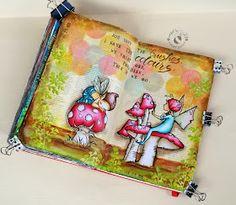 JIJI Cards: Арт журнал: Четки и цветове {Art journal: Brushes and colors}