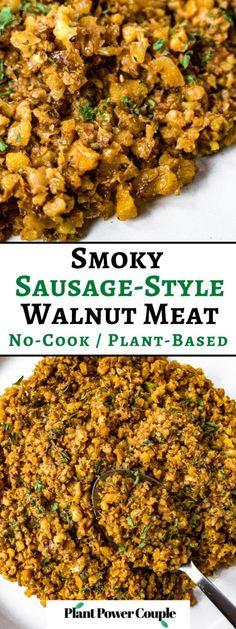 Vegan Recipes Beginner, Raw Vegan Recipes, Vegan Breakfast Recipes, Vegan Foods, Easy Healthy Recipes, Meat Recipes, Food Processor Recipes, Cooking Recipes, Vegan Meat Recipe