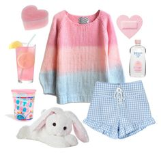 """Babydoll evening"" by margegrimm ❤ liked on Polyvore featuring Johnson's Baby, Cotton Candy, BabyGirl, girly and pastel"