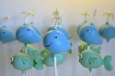 whales and fish cake pops Fish Cake Pops, Nautical Cake Pops, Beautiful Cakes, Amazing Cakes, Animal Cake Pops, Cake Pop Designs, Sea Cakes, Fish Crafts, Cute Cakes