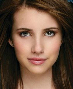 Emma Roberts  The right depth of hair color brings the whole face into balance. I see the beautiful eyes. (Truth is Beauty)
