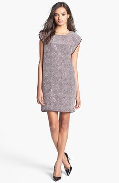 Rachel Roy 'Zip Tape' Silk Shift Dress available at #Nordstrom