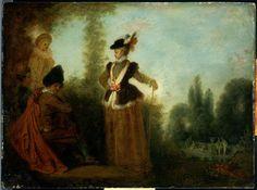 Antoine Watteau, 'L'Aventurière'.