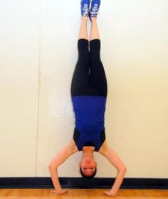 One of the hardest moves to master in Crossfit: Hand stand push ups.