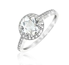 $19.99 - 1 Ct White Topaz Sterling Silver Checkerboard Accent Ring
