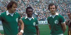 Giorgio Chinaglia, Pelé, and Franz Beckenbauer