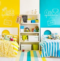 Quarto de menino e menina - dicas para decoração de quarto compartilhado   Macetes de Mãe